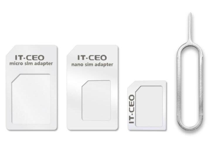 IT-CEO 手机Sim卡还原卡套 Micro/Nano sim转换卡托卡槽 送取卡针 适合苹果iPhone4/5/6S三星华为 白色 V7KT 晒单图