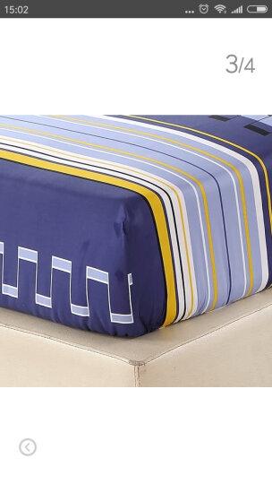 艾薇 床品家纺 单人床笠单件纯棉儿童床垫套防滑1.2床(长城格韵120*200*25) 晒单图