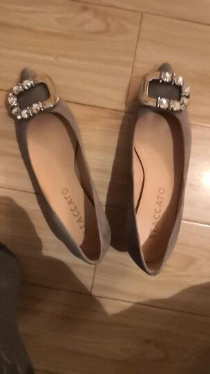 STACCATO/思加图秋季专柜同款羊皮黑色扣饰女细跟浅口鞋9UK20CQ6 灰色 36 晒单图