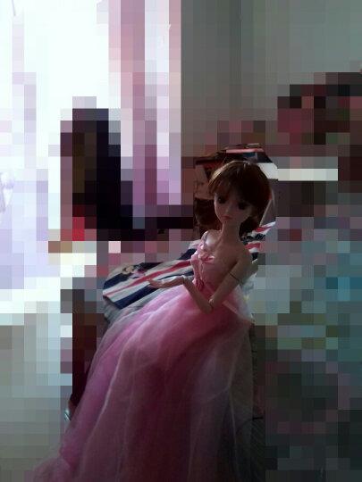 60厘米娃娃鞋子配件三分娃换装运动鞋拖鞋高跟鞋儿童玩具适用三分娃换装女鞋时尚公主鞋子 粉蝴蝶结高跟鞋 晒单图