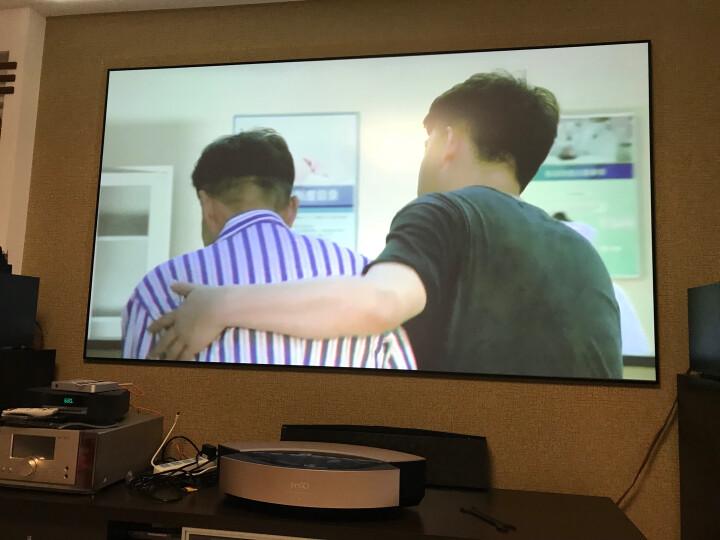 坚果(JmGO)V9微型智能家用投影仪1080P全高清3D无线wifi家庭影院4K投影机J9升级版 S1pro金色版 + 120英寸抗光软幕 晒单图