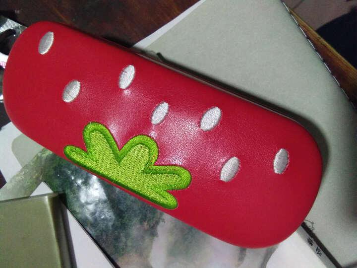 不是眼镜!卡通眼镜盒!   时尚可爱儿童眼镜盒汽车款眼镜盒女孩镜盒男童镜盒大人镜盒 红色草莓镜盒 晒单图