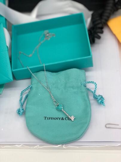 蒂芙尼(Tiffany & Co.)项链 Blue 琺瑯面迷你心形钥匙吊坠项链套装节日情人节 24466841 珐琅心钥匙 上海 现货赠礼盒 晒单图