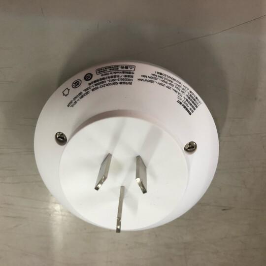 品胜(PISEN )LED光控智能插座小夜灯 新国标 节能省电 卧室床头led小台灯 白色 晒单图