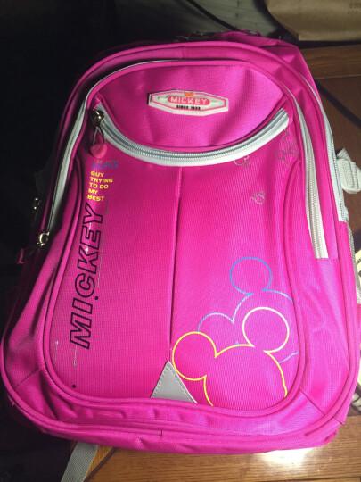 迪士尼(Disney)小学生书包儿童书包米奇女孩休闲背包 SD10030 玫红 晒单图