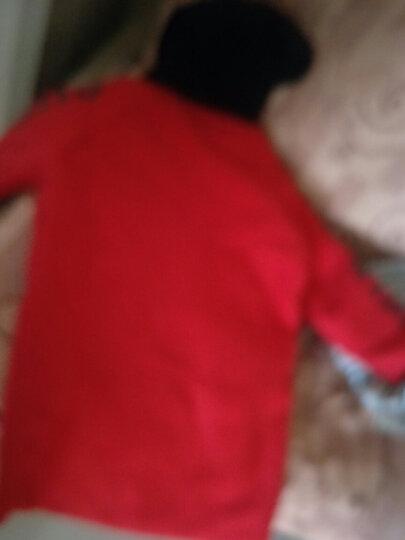 花菈猫 女童外套夹棉加厚保暖呢子大衣2017冬季新款儿童上衣长袖中大童女孩冬装毛呢外套潮 五角星红色 150(建议身高145左右) 晒单图