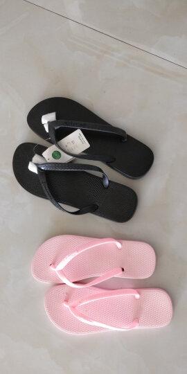 始丰拖鞋男女夏季情侣沙滩夹脚防滑浴室凉拖鞋 粉红 37 晒单图