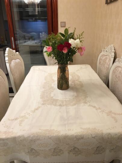 日本进口桌布防水防油PVC餐桌布加厚茶几布免洗台布餐桌垫长方形桌布 米色 132*180cm 晒单图