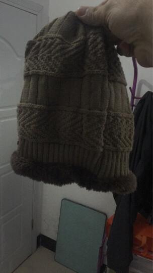 冬季男士帽子韩国版潮毛线帽加厚针织帽秋冬天套头帽包头帽 灰色 晒单图