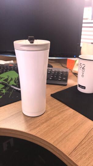 乐唯家咖啡杯保温杯男女大容量不锈钢便携水杯茶杯汽车杯子车载500ml 亚麻金 晒单图