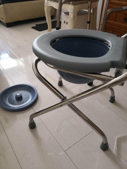 乐驰873家用坐便椅老人坐便椅孕妇马桶凳马桶架折叠便携 钢管喷涂款 晒单图
