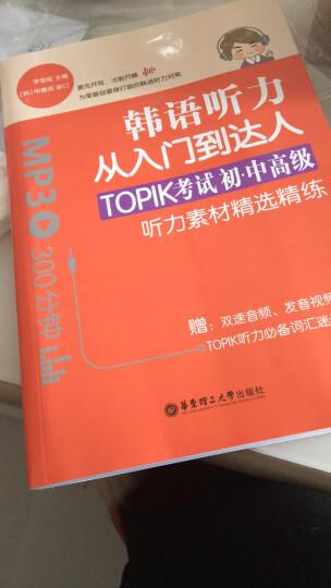 韩语听力从入门到达人:TOPIK考试初级、中高级听力素材精选精练(赠双速音频) 晒单图