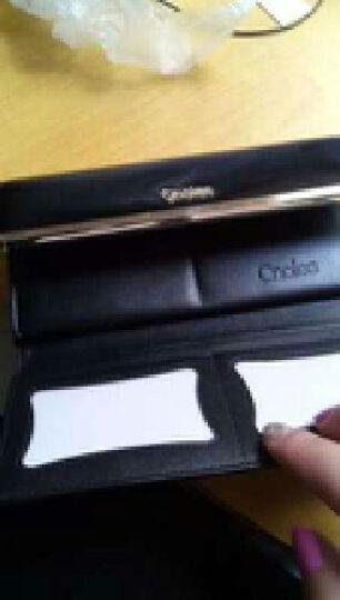 蔻一Cnoles 女士钱包秋季上新牛皮三折时尚钱夹 长款钱包女欧美风多卡位手拿包 K035 黑色 晒单图