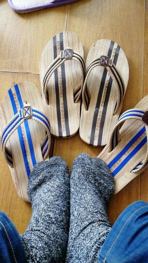 怒飚 拖鞋情侣沙滩鞋夹脚男士凉鞋韩版时尚防滑厚底耐磨大码人字拖鞋 棕色(A1512) 40 晒单图