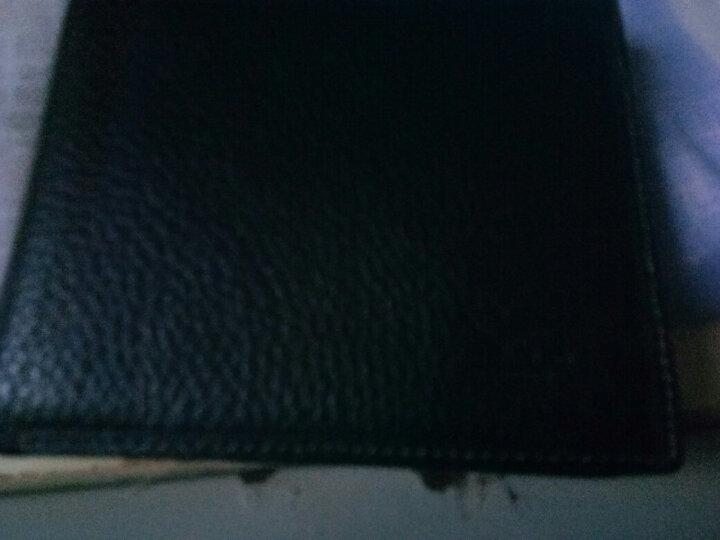 七匹狼男士皮带礼盒 钱包裤腰带 商务休闲男式针扣裤腰带+头层牛皮短款卡包套装L2700黑色 晒单图