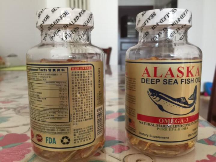 【拍3免1,热卖上万瓶】美国阿拉斯加深海鱼油软胶囊100粒/瓶大豆卵磷脂 1瓶体验装 晒单图