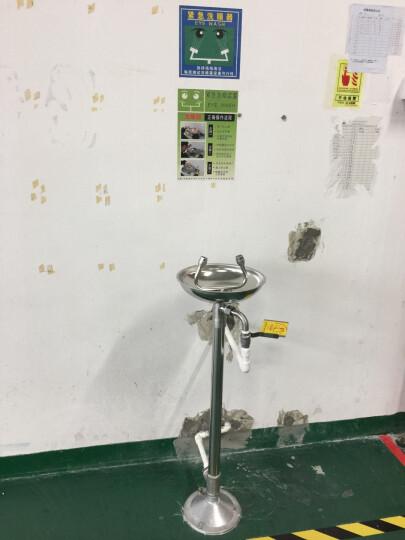 金刚牛洗眼器验厂304不锈钢洗眼器壁挂式台式紧急双口喷淋式验厂 立式洗眼器 晒单图