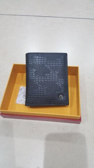 金利来(Goldlion)新款时尚男士票夹潮流男钱包竖款钱夹 黑A721006-311 晒单图