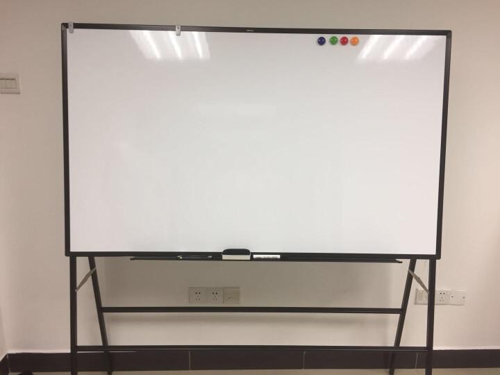 【六仓发货 急速送达】得力(deli)支架可移动可翻转双面磁性办公会议白板 33374-H型可移动双面白板90*180cm 晒单图