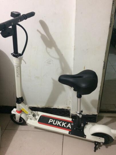 PUKKA锂电池滑板车代驾自行车便携折叠电动滑板车代步车迷你电瓶车 极光白 50公里续航  送座椅 晒单图