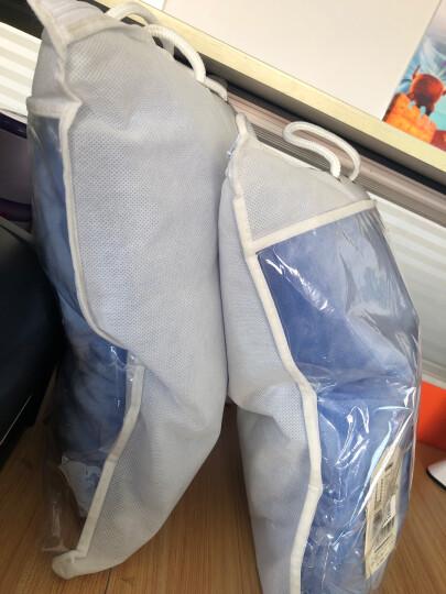 御棉堂 多功能创意抱枕被两用双面加厚保暖法兰绒夹绒护腰靠垫办公室午睡枕车载抱枕被 天蓝色110*150cm 晒单图