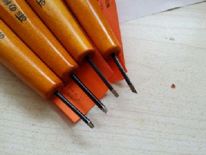日本进口QTS利刃木刻刀专业手工橄榄核雕刻刀 木雕微雕板画雕刻刀木工刻刀具 4号四支套装 晒单图