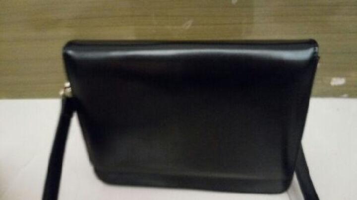 Yoqueen女包新款单肩包韩版女士包包休闲斜挎女包复古简约斜跨小包 黑色 高韧性PE板+高弹海棉 晒单图
