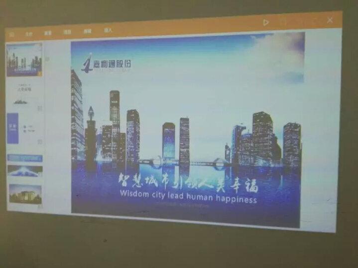 卡卡洛(CACACOL) 微型投影仪 便携式投影仪 家用 高清无屏电视  智能办公 T9 16G升级款 黑色 梯形校正 高清输出 晒单图
