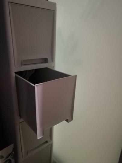 圣虹 夹缝抽屉式收纳柜置物架塑料缝隙储物整理箱窄柜冰箱零食边柜 18CM四层 不透明抽屉 晒单图