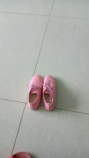 石康达女童皮鞋儿童公主鞋舞蹈鞋表演小皮鞋小白鞋2018秋季新款休闲韩版板鞋单鞋子 白色 28码/内长约17.5cm 晒单图