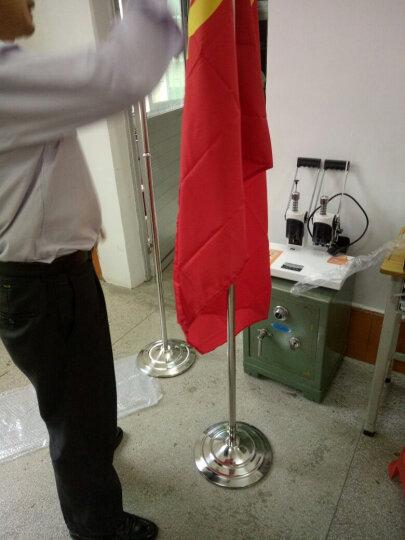 新品2米银色立式会议办公室内落地旗杆不锈钢国旗红旗党旗架旗座单价(默认送4号中国国旗) 晒单图