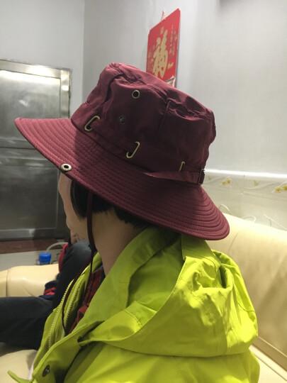 SOMUBAY 帽子男女夏季圆边渔夫帽户外登山奔尼帽 遮阳帽韩版太阳帽钓鱼防晒帽 DYM-04酒红色 晒单图
