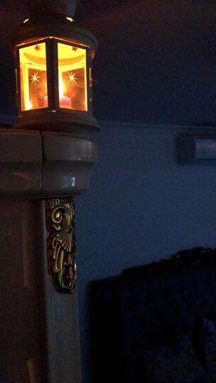 创意七彩圆柱形摆图粗短香薰小蜡烛味婚庆生日烛光晚餐浪漫套装 玻璃杯6只 晒单图