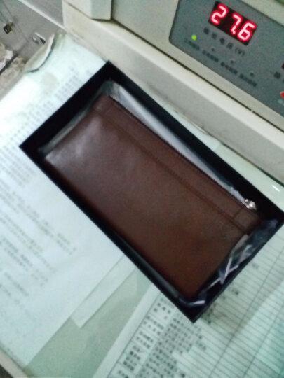 铂斯帝(BESDEL)新款钱包男士长款头层牛皮男款皮夹韩版时尚情侣钱夹多卡位卡包1032 1032咖啡色 晒单图