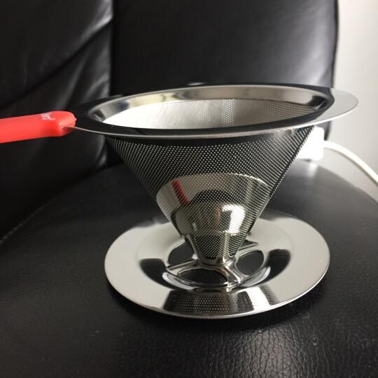 Hero 手冲咖啡壶套装 家用煮咖啡壶 滴漏式耐热玻璃分享壶 滴滤手冲组合 单壶+不锈钢滤网 晒单图