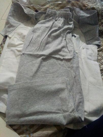 迪士尼儿童家居服套装 柔棉薄款男童中大童短袖中裤家居套装空调服 88475D0 白加灰 150 晒单图