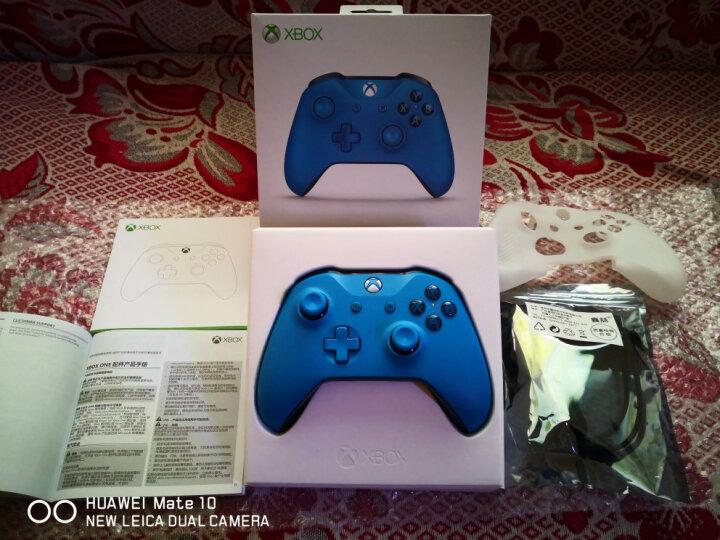 微软Xbox One S游戏手柄One X精英手柄电脑PC无线蓝牙steam荒野大镖客分手厨房领域白 新款手柄 湛蓝色【国行原封】 晒单图