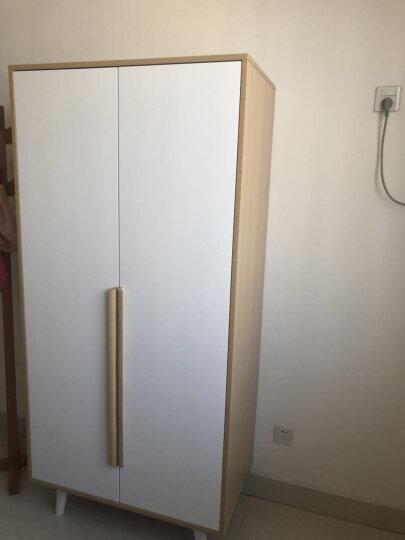 求品 衣柜 推拉门衣柜简约现代板式穿衣镜组合整体衣柜三四2门3门卧室实木衣柜北欧衣橱 A款单门镜柜 晒单图