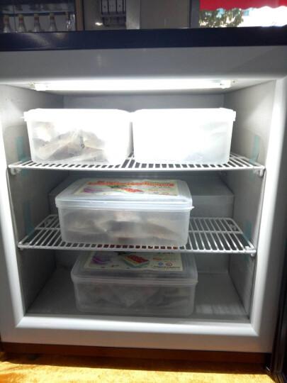 捷盛(JS) 立式冷冻展示柜SD55小型冰淇淋冷柜玻璃门榴莲冰柜 迷你哈根达斯保存箱 黑色 晒单图