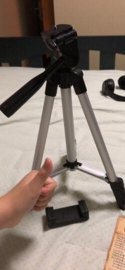 多宝莱 X9拍照主播手机三脚架床头直播支架三角架桌面户外懒人相机便携自拍火山小视频抖音西瓜视频 升级版1.5米三脚架 晒单图