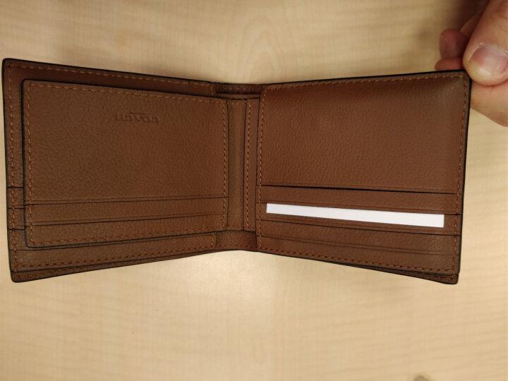 COACH 蔻驰 奢侈品 男士棕色皮革短款钱包 F75399 CWH 晒单图