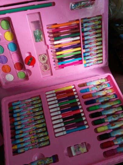 儿童画笔DIY卡通新公主儿童礼物绘画礼盒文具学生水彩笔儿童无毒绘画涂鸦彩色笔宝 150件红色 晒单图