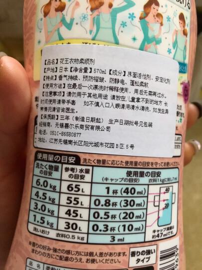 花王(kao) 日本进口 FLAIR衣物柔顺剂 柔软剂 抗皱 消臭 防静电 570ml 缤纷水果香 晒单图