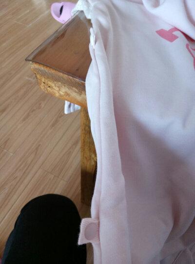贝壳日记(SHELL DIARY)婴儿睡袋儿童分腿防踢被宝宝秋冬厚款棉新生儿 【双层】柔粉色 70cm 适合65-85cm 晒单图