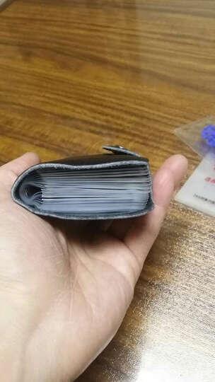 梵士汇(F4Y)24卡位卡包 JS-4103 信用卡银行卡夹 时尚商务牛皮多功能男士卡包 黑色 晒单图