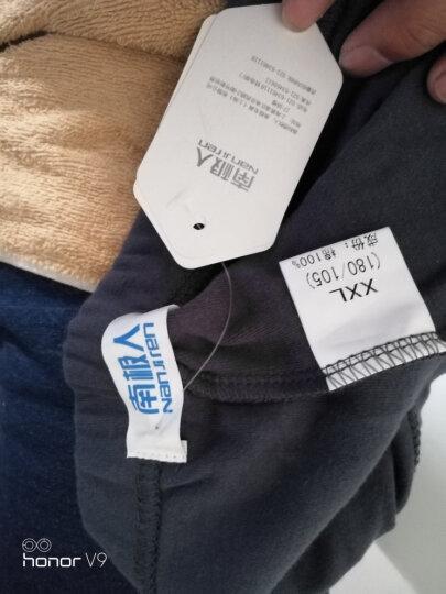 南极人男士秋裤薄款纯棉舒适修身保暖裤秋冬季纯色棉毛裤 单条装 明筋深灰 XXL 晒单图