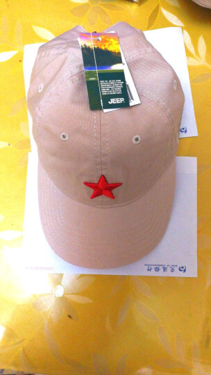 JEEP 吉普帽子 红色经典五角星 男女遮阳帽户外运动休闲帽棒球帽纯棉百搭帽子JP18046 米白色 可调节 晒单图
