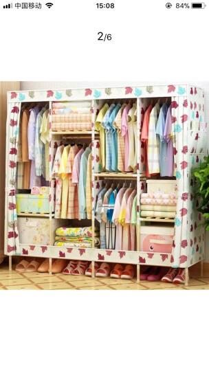 名创优品(MINGCHUANGUP) 名创优品 实木 布衣柜加固加厚大号组合收纳衣柜简易 卡通米奇 晒单图