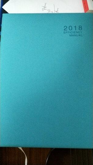 2019年日程本B5效率手册工作日历记事本365每日计划本A5创意简约韩国学生时间轴管理笔记本子文具 16K天蓝 晒单图