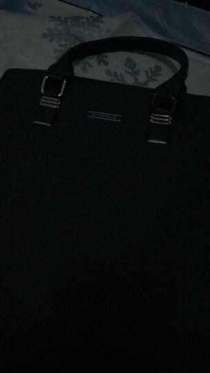 波士劳伦男包男士手提包男公文皮包商务休闲潮流男包时尚款 蓝色竖款 2017新款 晒单图